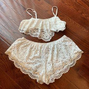 Victoria's Secret Lace Bralette Set